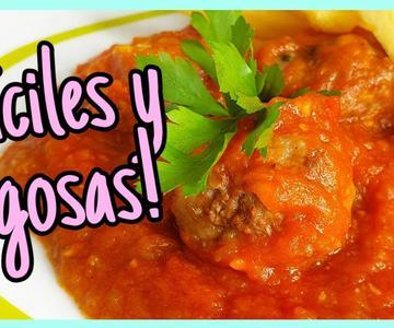 ALBÓNDIGAS con tomate ¡Bien jugosas! 🍅 RECETA rica y fácil 😋