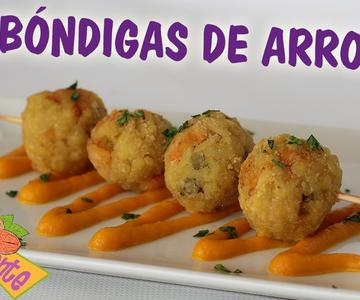 ALBÓNDIGAS DE ARROZ, Recetas Veganas | Veganamente