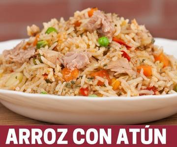 Arroz con atún - receta fácil con arroz basmati