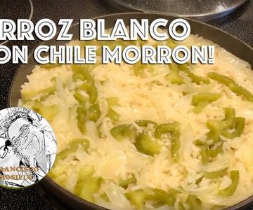 Arroz con Chile Morron y Cebolla! Receta Arroz con Chile Morron - Bell Pepper Rice Recipe
