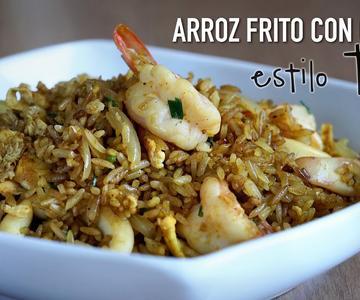 Arroz frito con curry estilo Thai - Thai Curry Fried Rice Recipe