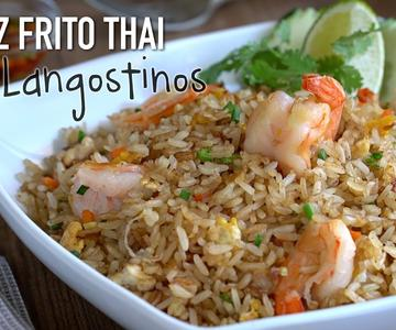 Arroz frito con langostinos estilo Thai - Thai Shrimp Fried Rice Recipe (ข้าวผัดกุ้ง)