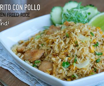 Arroz frito con pollo estilo Thai - Easy Thai Chicken Fried Rice Recipe l Kwan Homsai