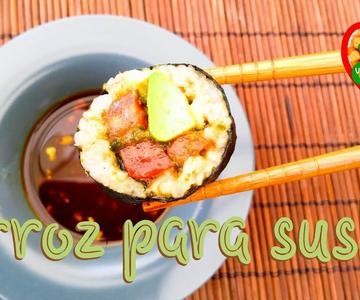 Arroz para sushi en arrocera