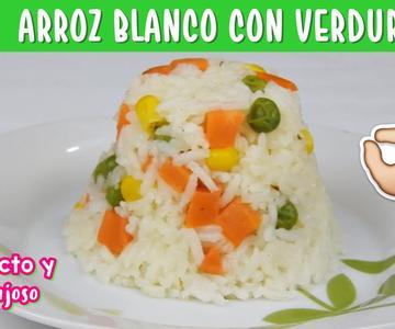 Como cocer Arroz Blanco con Verduras PERFECTO Y ESPONJOSO / Arroz a la jardinera / Arroz Blanco