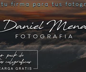 Como crear mi firma de fotografo + Descarga Gratis de fuentes | logo de fotografo con Photoshop