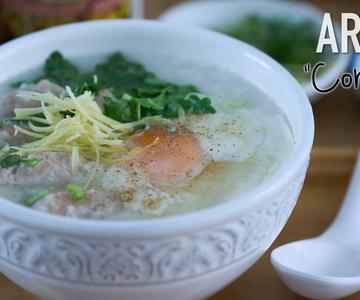 Como hacer Arroz Congee o Gachas de arroz estilo Thai para el frío