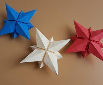Cómo hacer una 🌟 ESTRELLA 3D 🌟 | Origami PASO A PASO