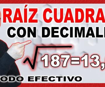 💥CÓMO Resolver La RAÍZ CUADRADA Con DECIMALES💥 Método Efectivo #11