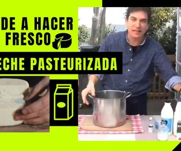 Descubre como hacer Queso Fresco Artesanal en Casa usando leche Pasteurizada del Supermecado
