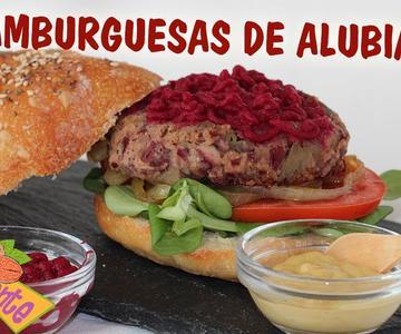 HAMBURGUESAS DE ALUBIAS ROJAS, Recetas Veganas | Veganamente
