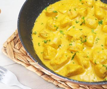Pollo al Curry 🍗 con Arroz 🍚 Receta Fácil