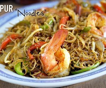 Singapur Noodles - Fideos de arroz salteados estilo Singapur