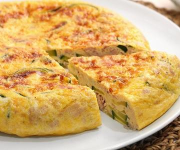 Tortilla de Atún y Calabacín muy fácil de hacer y deliciosa