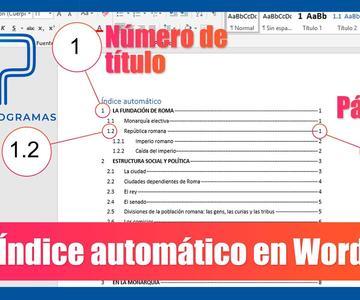 Word – Crear índice automático en Word con numeración de títulos y páginas. Tutorial en español HD